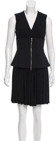 Alexander McQueen Sleeveless Peplum Dress