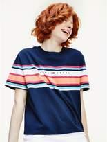 Tommy Hilfiger Organic Cotton Stripe Logo T-Shirt
