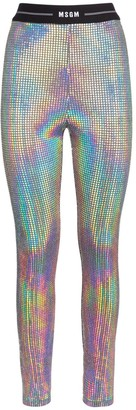 MSGM Holographic Mirror Leggings