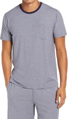 Daniel Buchler Feeder Stripe Cotton Blend T-Shirt