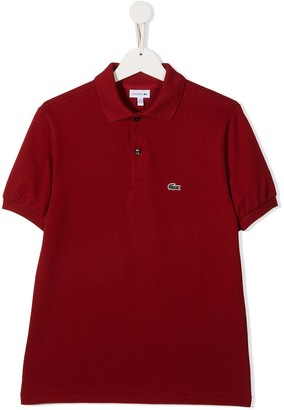 Lacoste Kids TEEN crocodile embroidery polo shirt