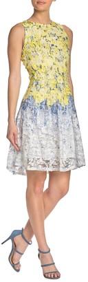 Gabby Skye Sleeveless Floral Lace Dress
