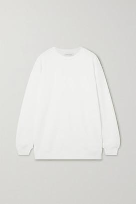 Ninety Percent Net Sustain Linda Organic Cotton-terry Sweatshirt - White