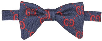 Gucci Kids GG wool and silk bow tie