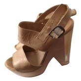 Chloé Beige Leather Sandals