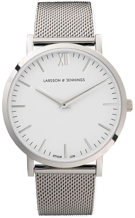 Larsson & Jennings Lugano 40mm Silver Chain Metal Watch