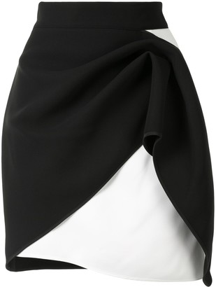 Maticevski Two-Tone Asymmetric Skirt