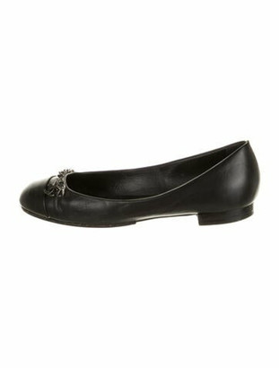 Chanel 2010 Chain-Link Accent Ballet Flats Black