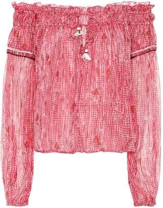 Poupette St Barth Clara printed chiffon shirt