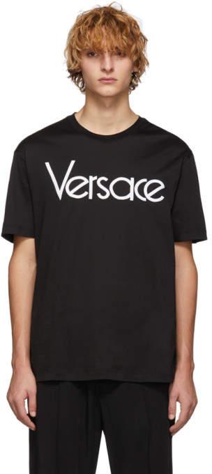 Versace Black Vintage Logo T-Shirt
