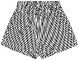 Il Gufo Checked cotton seersucker shorts