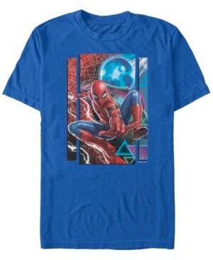 Marvel Men's Spider-Man Far From Home Mysterio Mash Up, Short Sleeve T-shirt