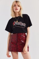 Urban Outfitters Leather Snakeskin Mini Skirt