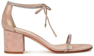 Gianvito Rossi Camoscio 65 blush suede sandals