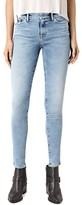 AllSaints Grace Skinny Jeans in Pale Blue