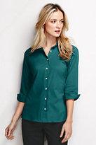Classic Women's Tall 3/4 Sleeve Stretch Broadcloth Shirt-Tropic Teal