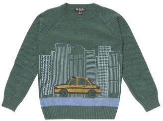 Loro Piana Kids Street Skyline cashmere sweater