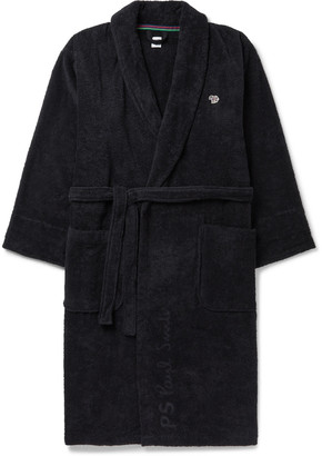 Paul Smith Belted Appliqued Cotton-Terry Robe
