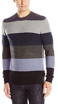 French Connection Men's Feltet Stripe Knits Crew Neck Sweater