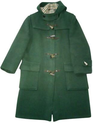 Aquascutum London Green Wool Coat for Women