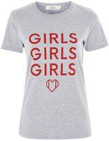 Oh My Love **'Girls Girls Girls' Slogan T-Shirt