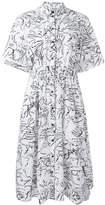 Kenzo Sketches shirt dress