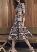 Alexis Ruth Dress Marine Embroidery