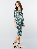 A Pea in the Pod Isabella Oliver Side Ruched Maternity Shirt Dress