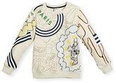 Kenzo Balzac Crewneck Logo Sweatshirt, Light Brown, Size 14-16