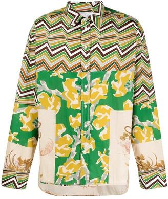 Pierre Louis Mascia Razzoli patchwork-print cotton shirt