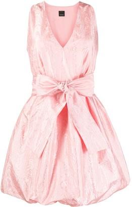 Pinko Balloon Skirt Satin Dress