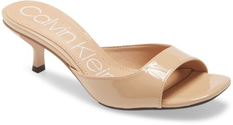 Calvin Klein Mega Kitten Heel Slide Sandal