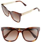 Jimmy Choo Women's 55Mm Retro Sunglasses - Havana
