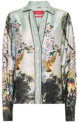F.R.S For Restless Sleepers Anaideia printed silk pajama shirt
