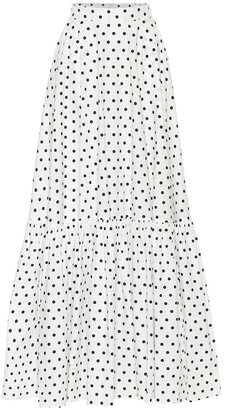 Plan C Polka-dot cotton maxi skirt
