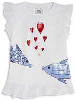 Armani Junior Girls' Fish & Hearts Tee - Little Kid