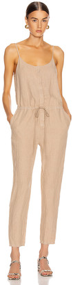 Enza Costa Strappy Jumpsuit in Khaki | FWRD