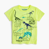 """J.Crew Boys' """"we are family"""" dinosaur T-shirt in the softest jersey"""