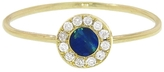 Jennifer Meyer Opal Inlay Circle Ring with Diamonds