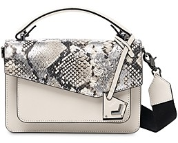 Botkier Cobble Hill Mini Metallic Snake Print Leather Crossbody