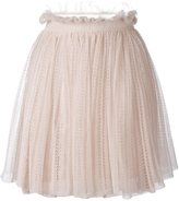 Alexander McQueen floral lace flared skirt