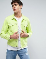 Calvin Klein Jeans Classic Denim Jacket In Green