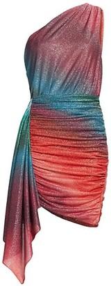 PatBO Sunset Lurex Mini Dress