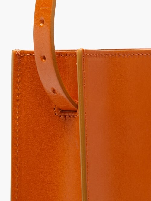 Thumbnail for your product : Our Legacy Adjustable-strap Leather Tote Bag - Orange