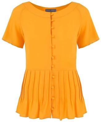 Klaudia Karamandi Marie Yellow Button Shirt