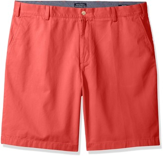 Nautica Men's Big Cotton Twill Flat Front Chino Short