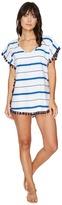 Plush Soleil Striped Cover-Up w/ Fringe Women's Swimwear