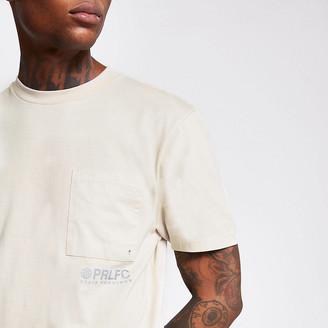 River Island Prolific beige chest pocket T-shirt