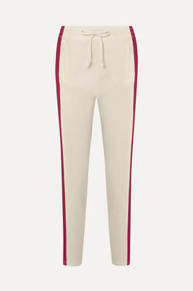Etoile Isabel Marant Darion Striped Knitted Track Pants - Ecru