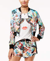 SHIFT Juniors' Printed Bomber Jacket, Created for Macy's